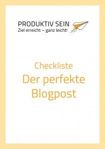 Checkliste Der perfekte Blogpost
