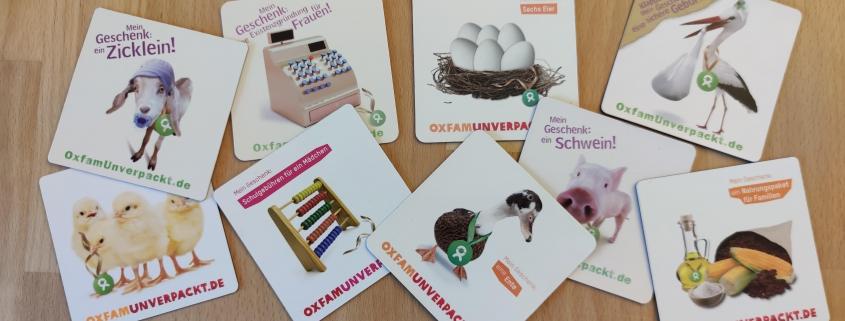 Oxfam unverpackt Weihnachtsgeschenke